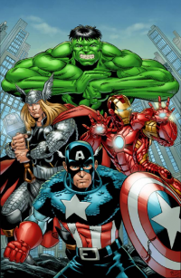 Thor, Iron Man, Captain America, Hulk from David Hillman