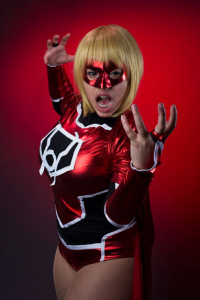 Cin'Von Quinzel as Red Lantern/Supergirl
