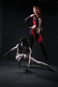Rebecca Perri Cos Girl as Bloodyrayne, Shelle-chii as unknown character
