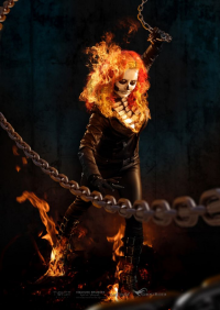 Lady Jaded as Ghost Rider