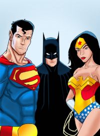 Batman, Superman, Wonder Woman from Mrfuzzynutz