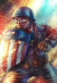 Captain America from Amir Mohsin