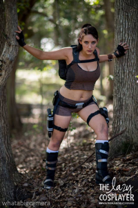 The Lazy Cosplayer as Lara Croft