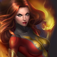 Dark Phoenix from Lid The Squid