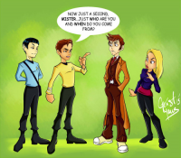 James T. Kirk, Spock, 10th Doctor, Rose Tyler from GeistMaus