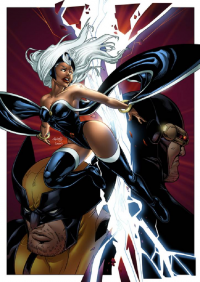 Storm, Wolverine, Cyclops from Sean Ellery