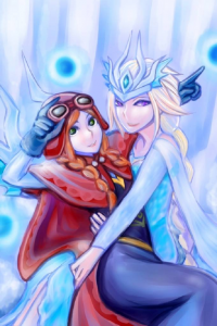 Irelia/Anna of Arendelle, Syndra/Elsa of Arendelle from Syndra X Irelia transcendent