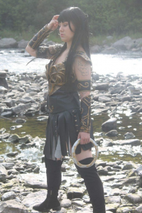 Lilly demon as Xena