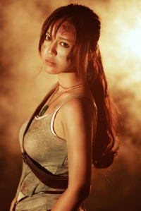 Xiao Ban as Lara Croft