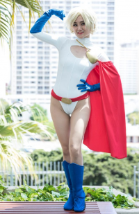 Vivacious Vixy as Power Girl