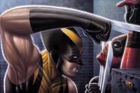 Deadpool, Wolverine from David Ocampo