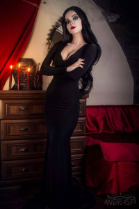 Andrasta as Morticia Addams