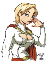 Power Girl from Vincent Pizarro