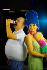Unknown Male Artist as Homer Simpson, Unknown Female Artist as Marge Simpson