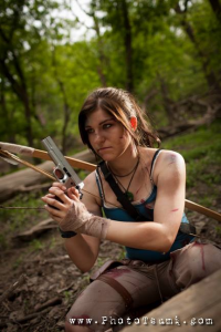 Evaupallnight as Lara Croft