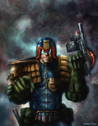Judge Dredd from Nick Percival