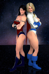 Wonder Woman, Power Girl from archjudge