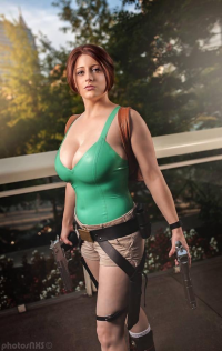 Abby Dark-Star as Lara Croft