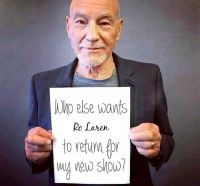 Who else wants Ro Laren to return for my new show?
