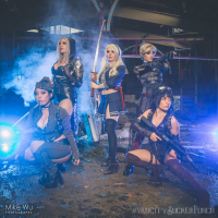 Scarlette Cosplay as Sweet Pea, Remi Lee as Rocket, Kasi Altair as Amber, Cassandra Ebner as Blondie, Mimi Reaves as Baby Doll