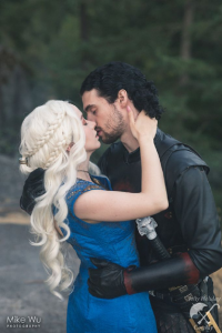 Mimi Reaves as Daenerys Targaryen, Dick Charming as Jon Snow