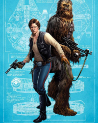 Han Solo, Chewbacca from Mark Brooks Art