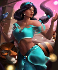 Princess Jasmine from Artsbycarlos