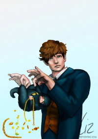 Newt Scamander from Lizzybepainting