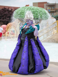 Sweets4aSweet Cosplay as Ursula, Pretty Lush Cosplay as Ariel