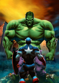 Hulk, Captain America from Carlos Valenzuela