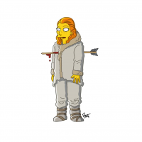 Ygritte/The Simpsons from Adrien Noterdaem