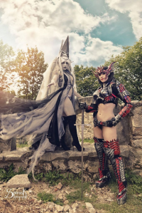 Ailiroy Arts and Crafts as Dark Elf, Atai Cosplay as unknown character