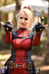 Maid of Might Cosplay as Deadpool