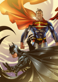 Batman, Superman from 16siddhartha