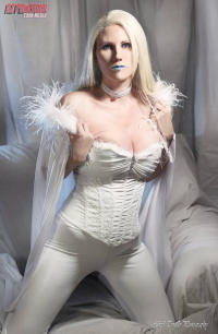 Az Powergirl as Emma Frost