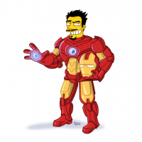 Iron Man/The Simpsons from Adrien Noterdaem