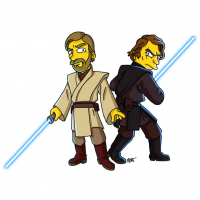Obi-Wan Kenobi/The Simpsons, Anakin Skywalker/The Simpsons from Adrien Noterdaem
