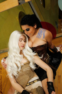 Valkryie Cosplay as Daenerys Targaryen, Lady Di Cosplay as Khal Drogo