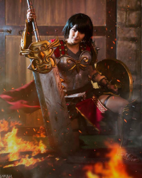 Francine Caroline Cosplay as Bellona