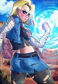 Android 18 from FalconSketcher