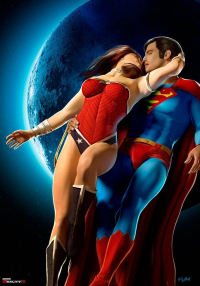 Wonder Woman, Superman from Isikol