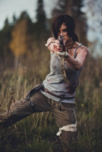 Elvina Ejstes as Lara Croft