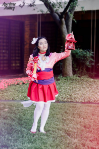 Cayden Vierra Cosplay as Sailor Moon/Mulan