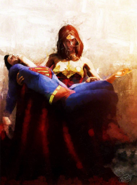 Superman, Wonder Woman from archangelgabriel