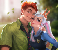 Nick Wilde, Judy Hopps from Sakimi Chan