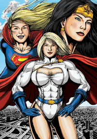 Supergirl, Power Girl, Wonder Woman from Leandro-sf