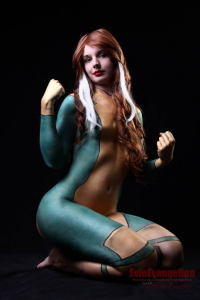 Evie Evangelion as Rogue