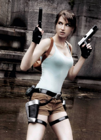 Lena-Lara as Lara Croft
