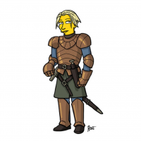 Brienne of Tarth/The Simpsons from Adrien Noterdaem