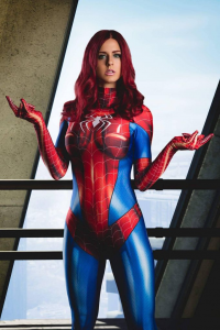 Juby Headshot as Spider Girl/Mary Jane Watson